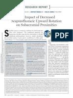 decreased scapulothoracic rotations