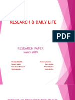 Research & Daily Life