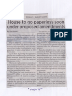 Philippine Star, Aug. 5, 2019, House to go paperless soon under proposed amendments.pdf
