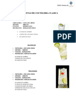 Recetas de Cocteleria Clasica #1