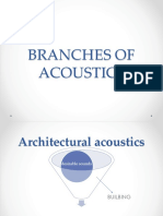 Branches of Architectural Acoustics