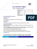 TS1303 Subsidiary Ledgers Test Question Book