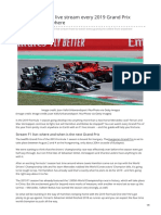 How to Watch F1 Live Stream Every 2019 Grand Prix Online From Anywhere