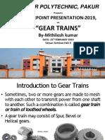 Mithilesh PPT on Gear Trains