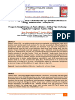 Pengaruh Hipoglikemia pada Pasien Diabetes Melitus Tipe 2 terhadap Kepatuhan Terapi dan Kualitas Hidup