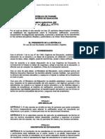 Decreto Ejecutivo No 810 de 11 de Octubre de 2010 Evaluaciones