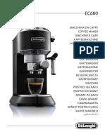 PT Delonghi Maquina Cafe Expresso EC680 Manual Instrucoes