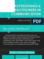 Practitioners of Communication
