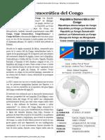 República Democrática Del Congo - Wikipedia, La Enciclopedia Libre