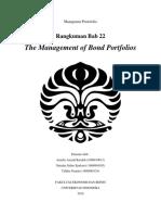 The Management of Bond Portfolios