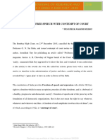 Contempt of court in direct relation with professional ethics