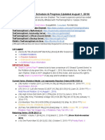 TheFlamingShark Schedule & Progress