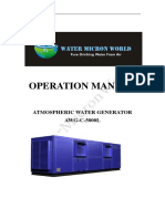 Watermicronworld AWG-C 5,000Liter Prer Day- Operation Manual