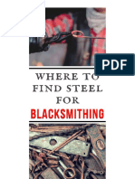 Where to Source Steel for Blacksmithing