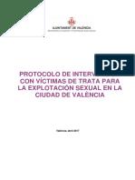 Protocolo de intervención victimas de trata para explotación sexual