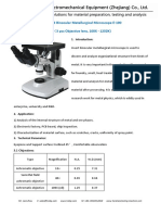 Inverted Binocular Metallurgical Microscope E-100