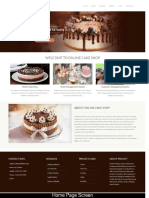 Online Cake Shop Python Mini Project Screens