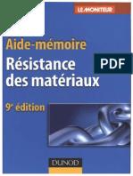 Formules Résistance Des Matériaux RDM