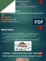 Pedagogy and Advanced Pedagogy