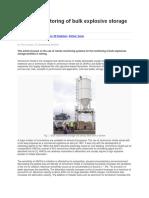 Remote Monitoring of Bulk Explosive Storage Facilities