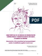Características de los modelos de Rehabilitación convencionales y neuropsicológicos aplicados a usuarios de heroina