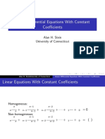 Linear Differential Eqn With Const Co-eff.