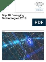 WEF Top 10 Emerging Technologies 2019 Report