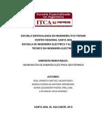 Generacion Energia Electrica Geotermica