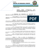 Lei Nº 1510.19 - Desmembramentos