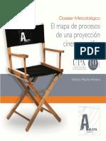El mapa de procesos de una proyección cinematográfica