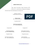 Lembar Persetujuan PTP