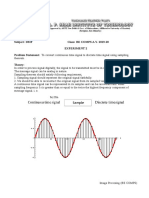To convert continuous time signal to discrete time signal using sampling