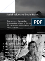 Social Value and Social Norm