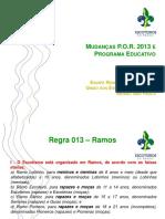 Mudancas Por 2013 e Programa Educativo