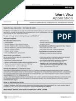 INZ 1015 Work Visa Application