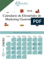 Calendario de Efemérides Gastronómicos