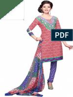 Vibrant Fashion Crepe Floral Print Salwar Suit Dupatta Material