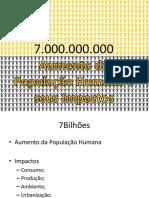 Crescimento e Impactos PopHumana