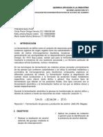 INFORME DE LABORATORIO PRACTICA N° 5. DESTILACIÓN DE ALCOHOL DEL GUARAPO