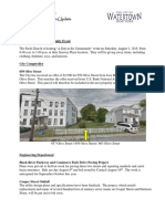 Watertown City Manager's Status & Info Report Aug. 2, 2019