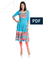 Rain and Rainbow Women's Straight Kurta 001