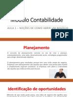 Módulo Contabilidade - Aula 01