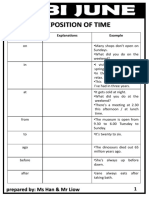 Preposition of Time & Information Transfer