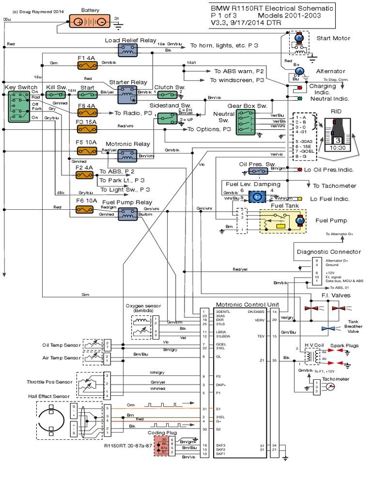R1150RT Electric Diagram V3 3 | Anti Lock Braking System | Land Vehicles | Bmw R1150rt Wiring Diagram Download |  | Scribd