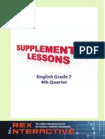 Supplemental English High School Grade 7 4rth Q