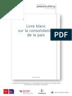 Livre Blanc Sur La Consolidation de La Paix