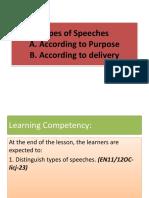 Types of Speeches