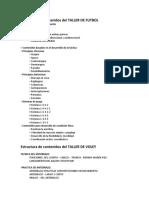 Estructura de Contenidos Del TALLER De