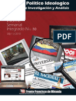 Informe semanal integrado de la Sub área de investigación y análisis Nº 10
