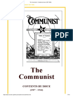 The Communist – Contents by Issue (1927-1944)2